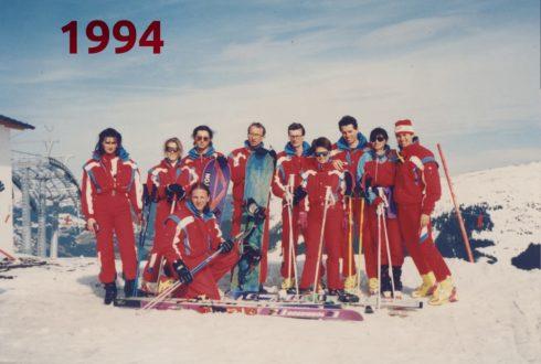 Tým lyžařské školy - rok 1994