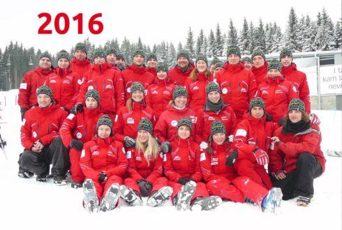 Tým lyžařské školy - rok 2016