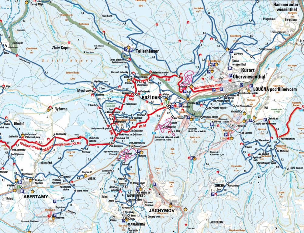 Běžecké trasy Boží Dar