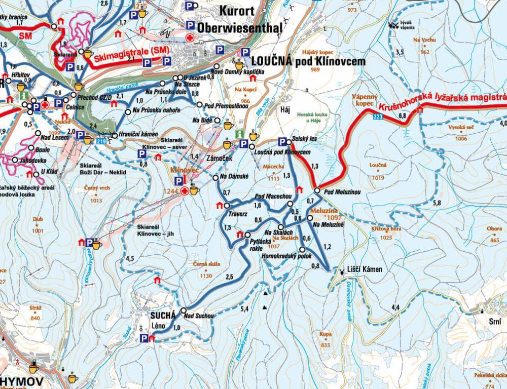 Běžecké trasy Klínovec